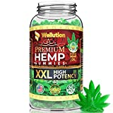 Wellution Hemp Gummies XXL 2,500,000 High Potency - Fruity Gummy with Organic Hemp Oil. Natural Hemp Candy Supplements for Pain, Anxiety, Stress & Inflammation Relief. Promotes Sleep & Calm Mood