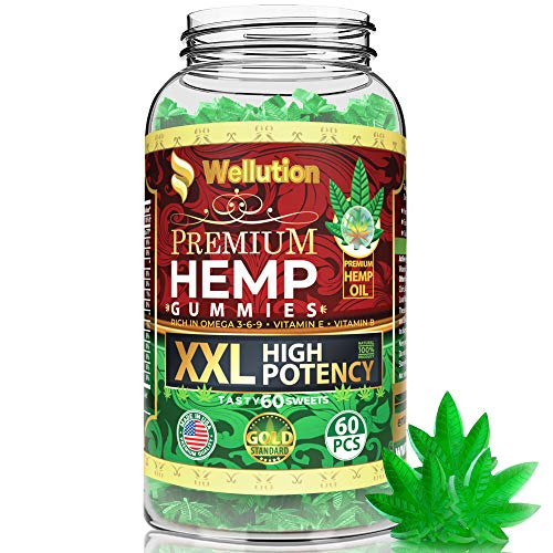 Hemp Gummies XXL 1,500,000 High Potency Premium - Fruity Gummy with Organic Hemp Oil | Natural Hemp Candy Supplements for Pain, Anxiety, Stress & Inflammation Relief | Promotes Sleep & Calm Mood