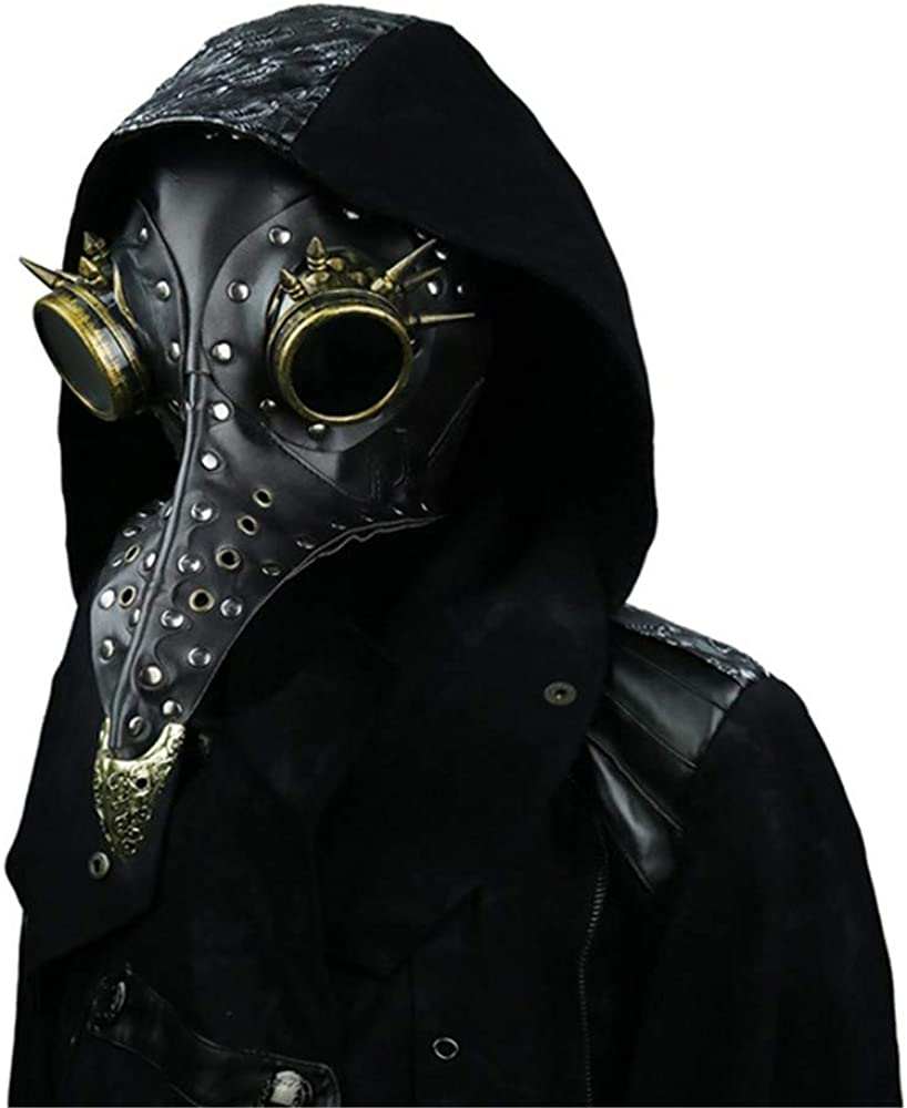 Free Shipping Cheap Bargain Gift steel master Steampunk Plague Doctors Leather Long Nose PU Discount is also underway Mask