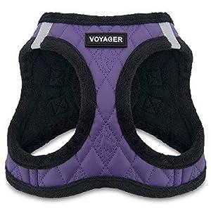 Voyager Step-In Plüsch-Hundegeschirr, weicher Plüsch, für kleine und mittelgroße Hunde von Best Pet Supplies – Violettes… 2