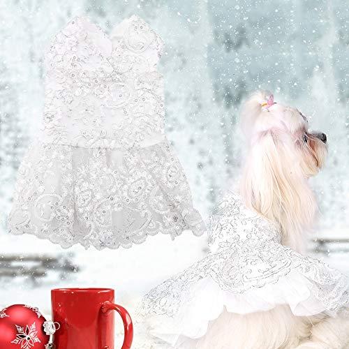 Ropa de Vestir para Perros Mascotas Encaje Elegante Vestido Formal...