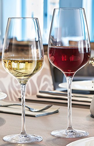 24 Rotweingläser 45cl + 24 Weissweingläser Sublym 35 cl geeicht 0,2 hochwertig stoßfest