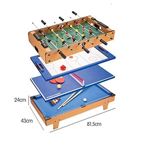 JJSFJH Spieltisch, Multi Combo 4 in 1 Spieltisch, Tischfußball Tisch Miniatur-Gaming Spielzimmer Indoor Football-Spieltisch