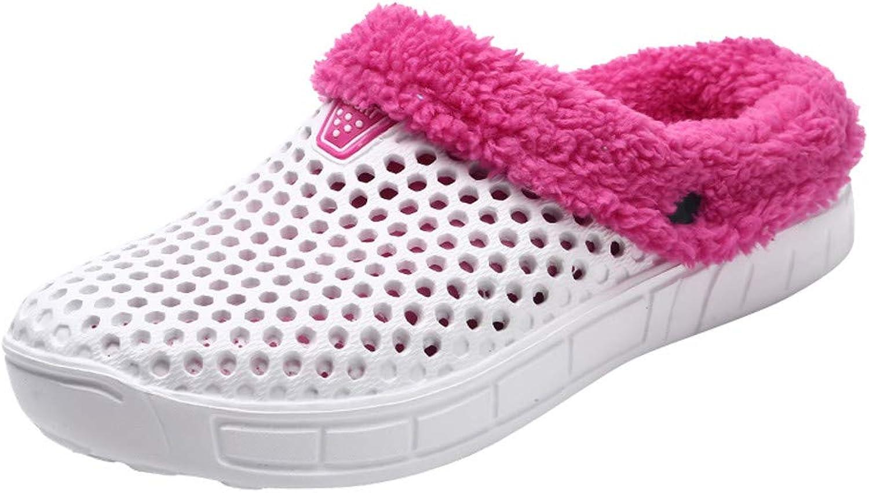 Xinantime Couples Fleece Lining Slip On shoes Hollow Roma shoes Women Man Flat Heel Slippers Indoors Bedroom Floor shoes