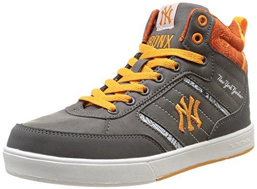 New York Yankees - Vadim Mid, Sneakers per Bambini e Ragazzi, Grigio (409/dk Grey/Amber Orange), 38