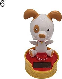 ink2055 Solar Power Dancing Dog Shape Car Dashboard Interior Ornament Home Decoration Novelty Desk Car Toy Ornament - 6#