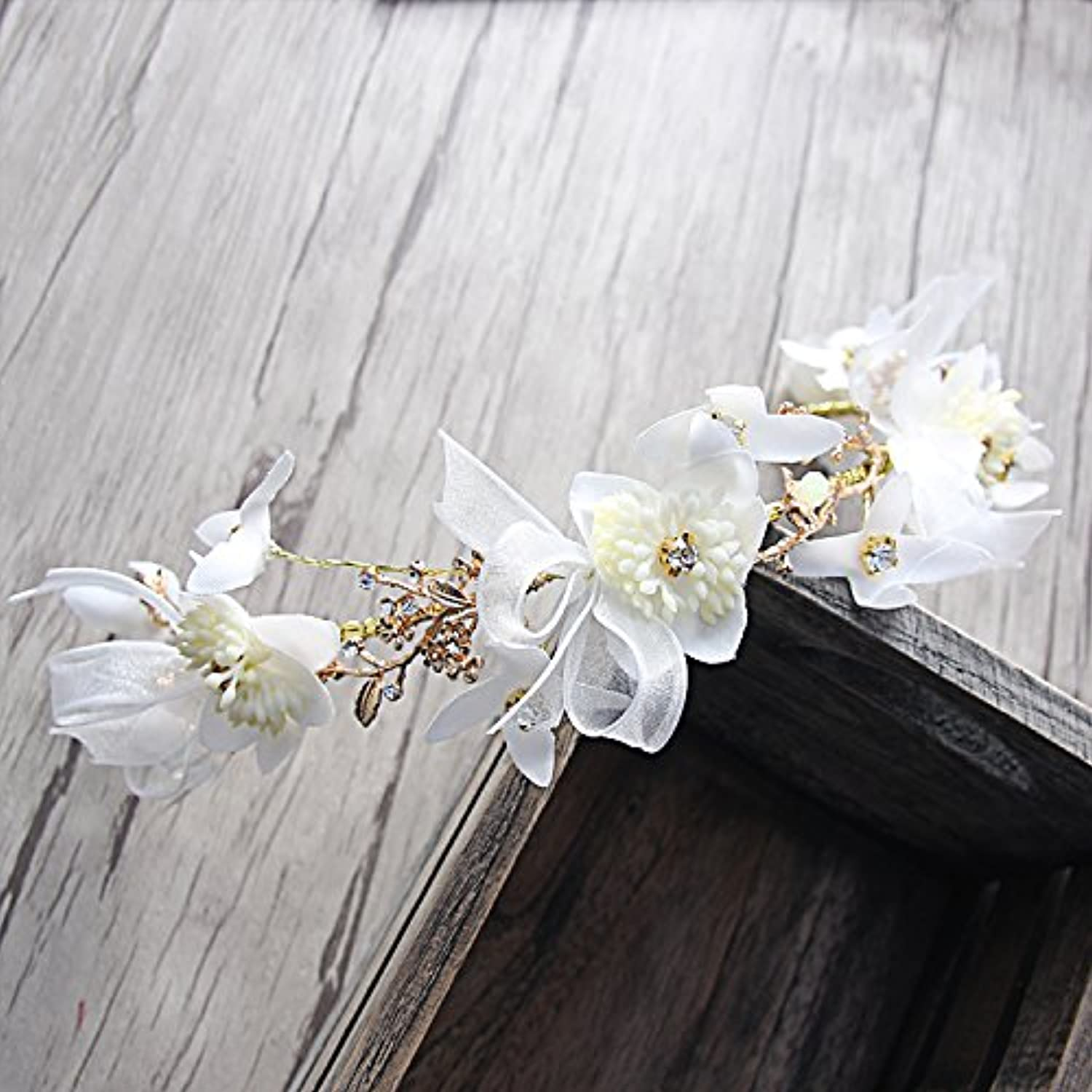 GTVERNHThe Bride Friezes Garlands Bridal Suite Accessories Sweet The Sum of The Girl Manual and Flowers Wedding Jewelry