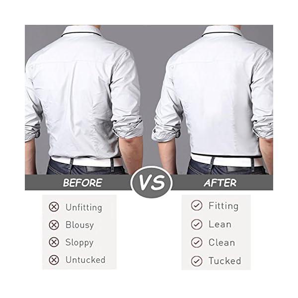 Shirt Stays for Men Adjustable Shirt Garter Suspender Belts for Police Military