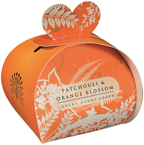 The English Soap Company, Luxury Packed Guest Soaps, Patchouli & Orange Flower, 3x20g