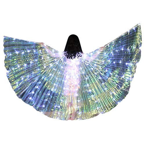 Read About Becobe Children LED Light Up Butterfly Wings, Belly Dance Costumes Glowing Performance Cl...