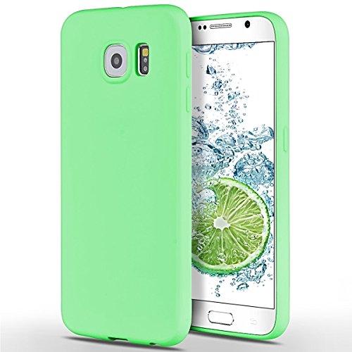 SpiritSun Samsung Galaxy S6 Hülle, Transparent Handy Hülle für Samsung Galaxy S6 Weich TPU Silikon Schutzhülle Niedlichen Muster Schale Tasche Ultradünnen Etui Anti-stoß Kratzfeste Case Cover - Grün