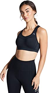 Rockwear Activewear Women's Moulded Olympic Clip Back Bra Black 14 Dd From size 4-18 High Impact Bras For