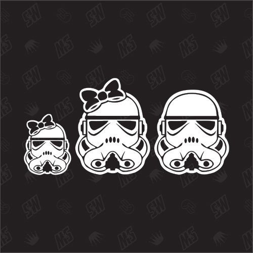 Star Wars Family with 1 girl - Sticker
