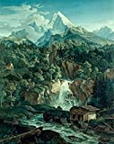 Ludwig Richter – Watzmann Mountains by Ludwig Richter