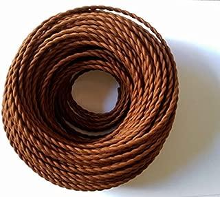abat Jour dise/ño Made in Italy l/ámparas Cable el/éctrico trenzado Pesca estilo vintage revestido de tela multicolor m/ás bruto Canvas Lino Marr/ón Secci/ón 2/X 0,75/para l/ámparas