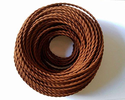 Geflochtenes elektrisches Kabel, 5 m, 2-adrig, schwarz, antike gedrehte Seide, flexibler Textildraht, für DIY geeignet