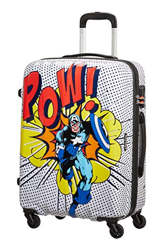 American Tourister Marvel Legends Luggage- Suitcase, M (65 cm - 62.5 L), Multicolored (Captain America Pop Art)