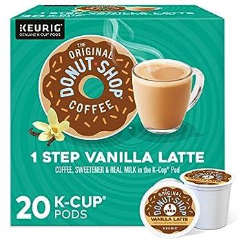 The Original Donut Shop Vanilla Latte Single-Serve Keurig K-Cup Pods Flavored Coffee 20 Count