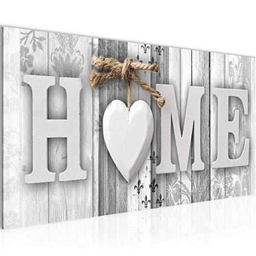 Runa Art Bilder Home Holz Bretter Wandbild Vlies - Leinwand Bild XXL Format Wandbilder Wohnzimmer Wohnung Deko Kunstdrucke Grau 1 Teilig - Made IN Germany - Fertig zum Aufhängen 503312c