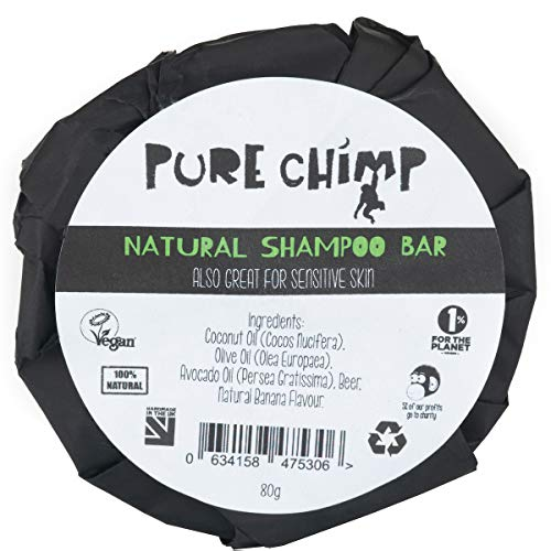 PureChimp Natural Shampoo Bar 80 g – Foamy Magic – verzorgend en hydraterend – banaan/vanille