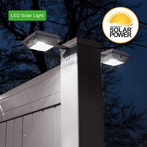 Duokon 6LED Solar hek lamp Outdoor Solar LED inductie sensor tuin wastafel waterdichte smart hek lamp Smart Gate hof hek licht
