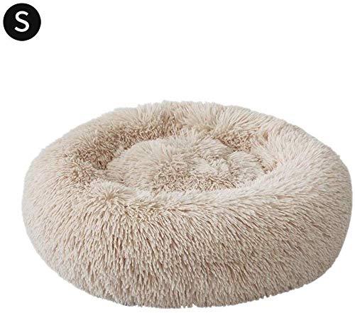 YLCJ Kussen voor kinderbedje voor honden en katten met onafhankelijke verwarming. Kleine middelgrote hondenhok. Huisdier bed. Circle House Kennel Warm winterslaapzak voor mand met stijf ademend katoen voor katten., D50x26cm, G225060A