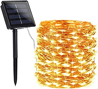 LED String - 72ft 22M 200 LED Solar Strip Light Home Garden Copper Wire Light String Fairy Outdoor Solar Powered Party Dec...