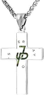 Zinc Alloy Chain Cross Pendant Necklace Jake Paul 3D Printed Jewelry for Men Women