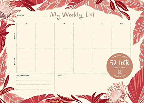 powerful 52 List My Weekly List Desktop Notebook