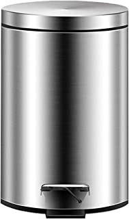 U-HOOME Stainless Steel Trash Can Garbage Can with Lid 12 Liter for kitchen Home, Office Soft-Close Garbage Bin with Foot ...