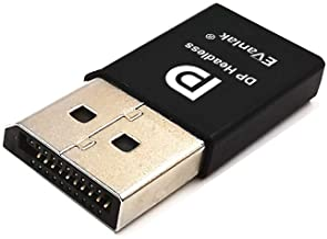EVanlak DisplayPort Headless Ghost Display Emulator for PC 4K DP Dummy Plug (fit Headless 1080@60Hz-3840x2160@17hz)