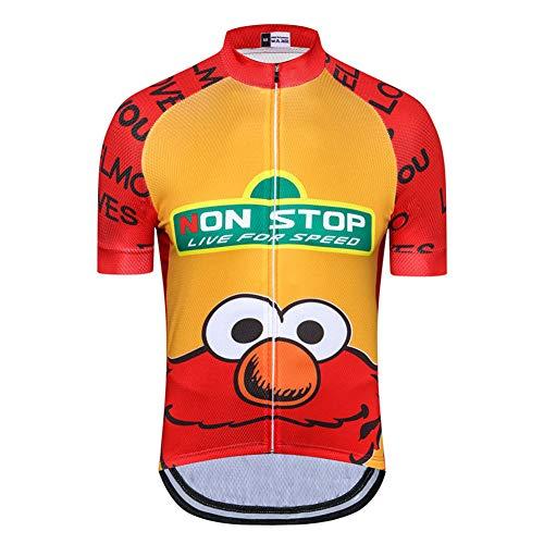 Frosch Cartoon Bike Jersey für Männer, Schnelltrocknende Kurzarm-Radtrikots Atmungsaktive MTB-Oberteile Outdoor Mountain Road Biking Sportswear