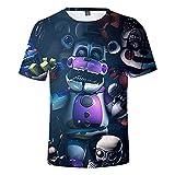 YJXDBABY-Five Nights at Freddy-Camiseta Unisex De Verano Casual con Estampado 3D Camisetas De Manga Corta para Hombres Y Mujeres Disfraz De Cosplay-XS