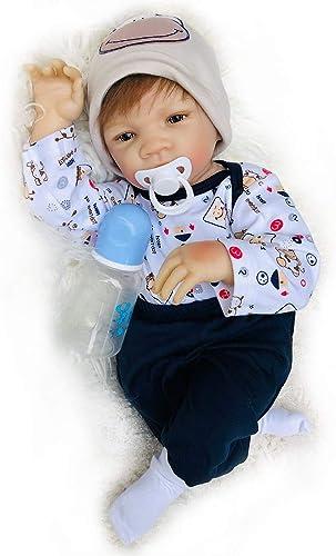 SN86qiu 50cm   20 Zoll Silikonpuppe mädchen wiedergeboren Babypuppe Toy Bebes Reborn Puppe Lebensechte Neugeborene Prinzessin Victoria Bonecas Menina für Kinder
