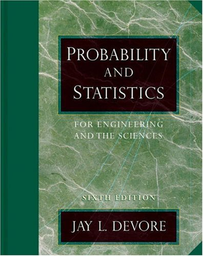 Probability and Statistics for Engineering and the Sciences (with CD-ROM and InfoTrac) (Available Titles CengageNOW)