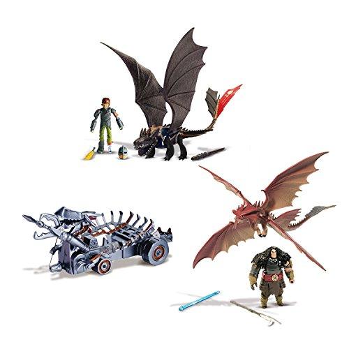 Spin Master 6023190 - DreamWorks Dragons - Power Dragons Attack Set