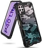 Ringke Fusion-X Diseñado para Funda Huawei P40 Lite (2020), No para Huawei P40 Lite 5G ** PC + Parachoque TPU, Carcasa Antigolpes Huawei P40 Lite (6.4 Pulgadas) - Camo Black