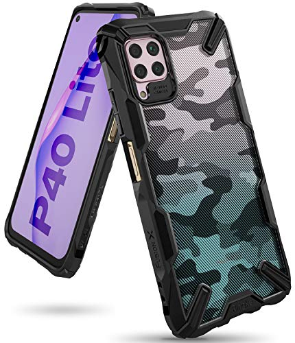 Ringke Fusion X Design Case Made for Huawei P40 Lite (NOT for Huawei P40 Lite 5G) - Camo Black