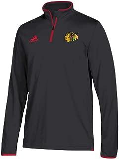 adidas Men's Chicago Blackhawks NHL Authentic 1/4 Zip Pullover