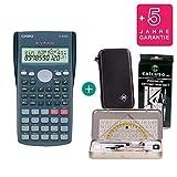 Casio FX-82MS + Funda protectora SafeCase + Kit de geometría + Garantía extendida 60 meses