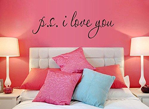 LifeUp- 'P.S. I Love You' Adesivi Murali Frasi, Camera da Letto Soggiorno Adesivi da Parete Removibili/Stickers Murali/Decorazione Murale, regalo originale
