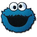 Verani Cookie Monster Sesame Street Patch Embroidered Iron on Elmo Big Bird Applique Cartoon Family Guy Bart Badge Misfits Retro Hippie Easy Emblem Stewie The Simpsons
