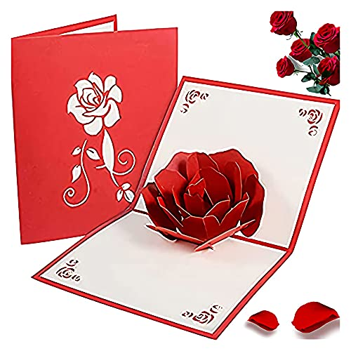 2 Piezas Tarjeta Cumpleanos 3D, Tarjeta Rosa, Tarjeta Felicitación Plegable, Hecho a...