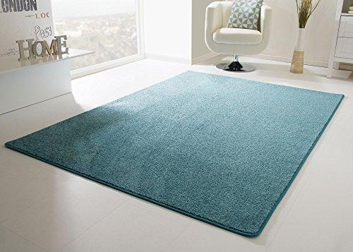 Designer Teppich Modern Cambridge in Türkis, Größe: 200x300 cm