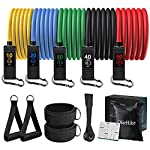 OlarHike Resistance Bands Set with Handles for Men Women, Exercise Band with Leg Ankle Straps, Door Anchor for Working Out, Long and Heavy Weight Tubes for Strengths Training, Fitness