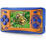 Haopapa Q5 Retro Video Game Console, AV Output Arcade Console Built-in Hundreds of Classic Video Games, Portable Traveling Electronic Game Player for Boys Girls Age 4-8, Great Gift Idea -Orange
