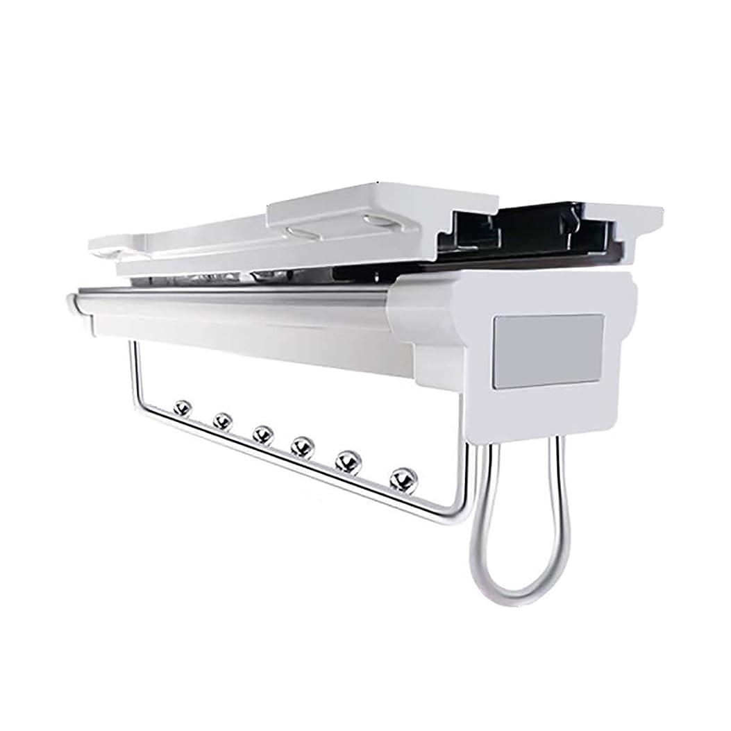 委任誘発する到着するパンツラック キャビネットハンガーレールダンパーオーガナイザーラック付き拡張可能ハンガーラックを引き出す スカーフスタンド (Color : White, Size : 45.8cm/18inch)