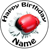 Guante de boxeo boxeo personalizada decoración para tarta para–una precortado redondo 8'(20cm) glaseado decoración
