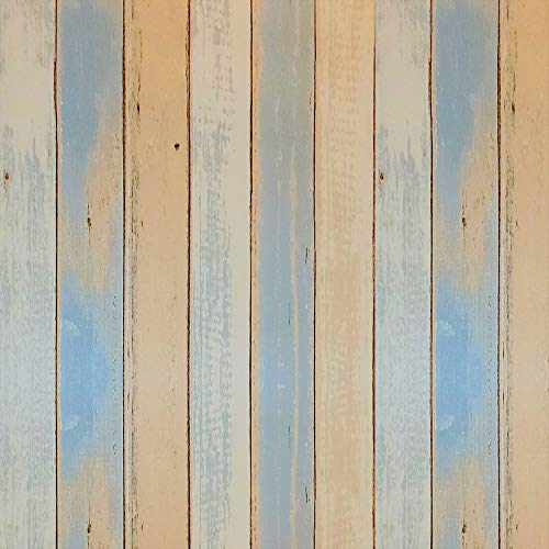 Wood Stripe Self Adhesive Contact Paper Removable Wood Peel and Stick Decorative Wallpaper for Shelves Drawers Tables Furniture and Walls 17.7 x 78.7 Inch Roll