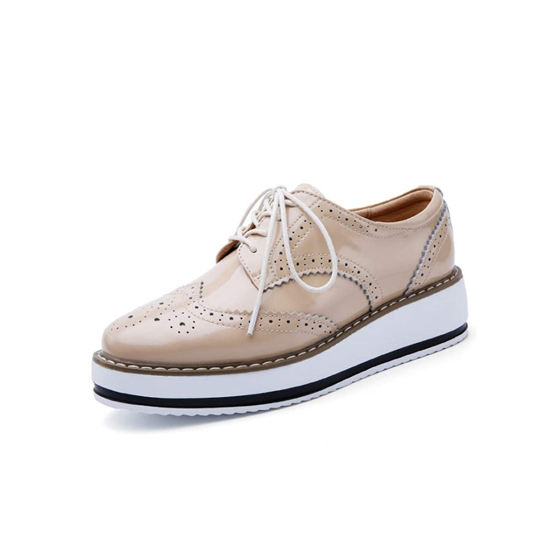 [Inlefen] 女性の 厚い底 カジュアルシューズ シングルシューズ 秋の靴 ファッション レディースシューズ